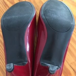 Mossimo Supply Co. Shoes - Mossimo Open-Toe Red Heels